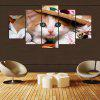 YSDAFEN 5 pannello HD stampato Lovely Cat Canvas Print Home Decor Immagini Wall Art - COLORI MISTI