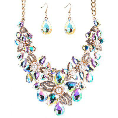 New Flower Water Drop Necklace Set