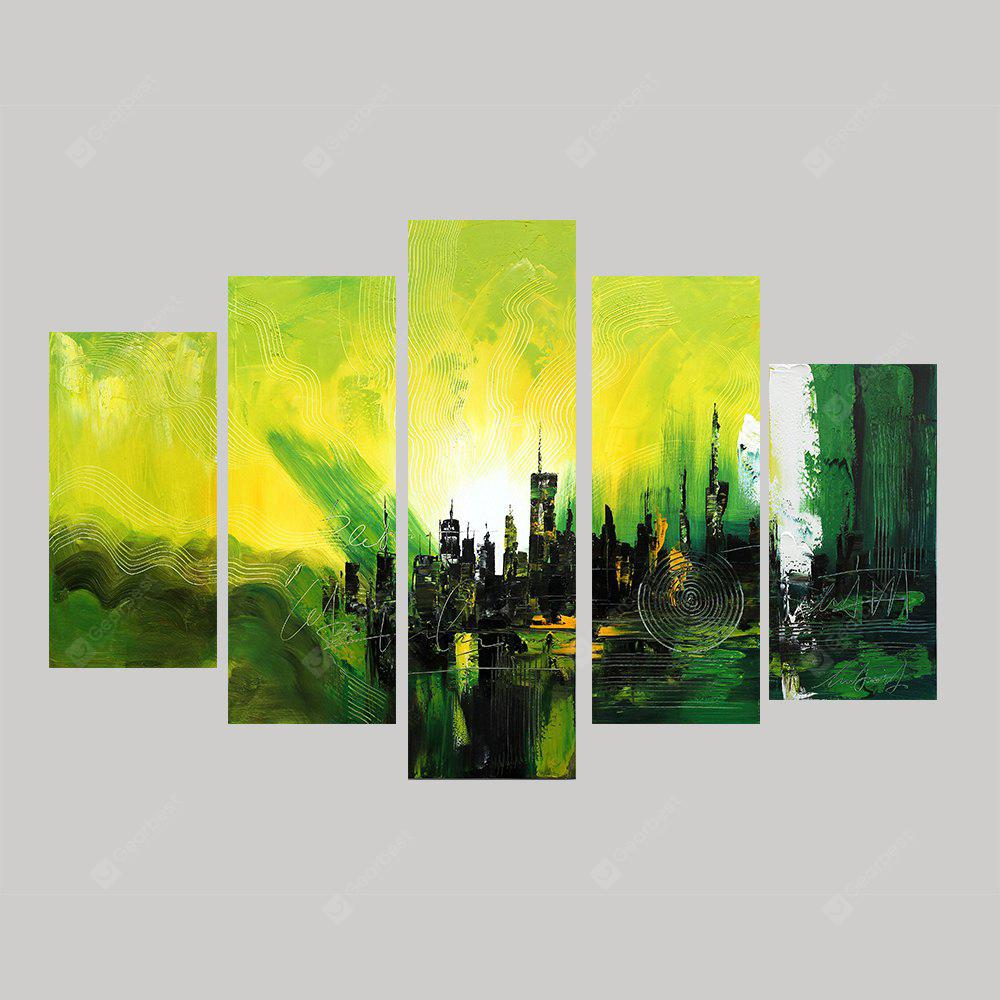 XiangYunChengFeng Hand Painted Creative Canvas Oil Painting 5PCS ...