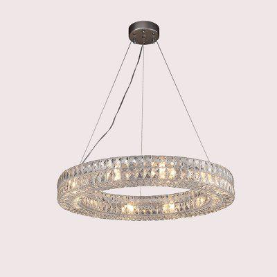 Circular crystal droplight sitting room hotel decoration lamps and lanterns