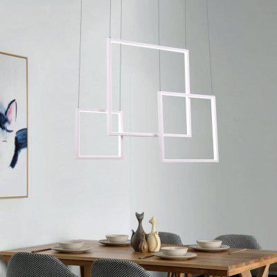 Modern White LED Pendant Lamp Square Combination Shape for Office Room  Living Dining Room Bedrooms