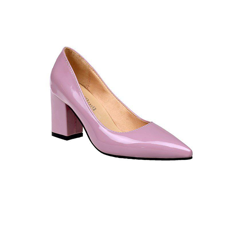NJ-588 Nude Female Temperament High-heeled Feet Thick Shallow Muzzle Pointed Shoes Merchandiser