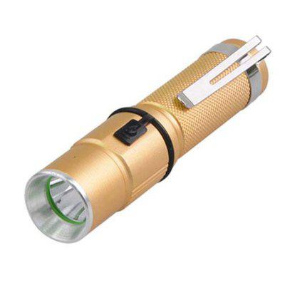 HKV Mini Gold Color 6000 - 6500K Q5 Zoomable 3W Powerful Rechargeable Flashlight