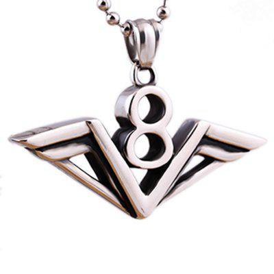 Popular titanium steel casting lucky number 8 pendant necklace punk popular titanium steel casting lucky number 8 pendant necklace punk jewelry aloadofball Choice Image