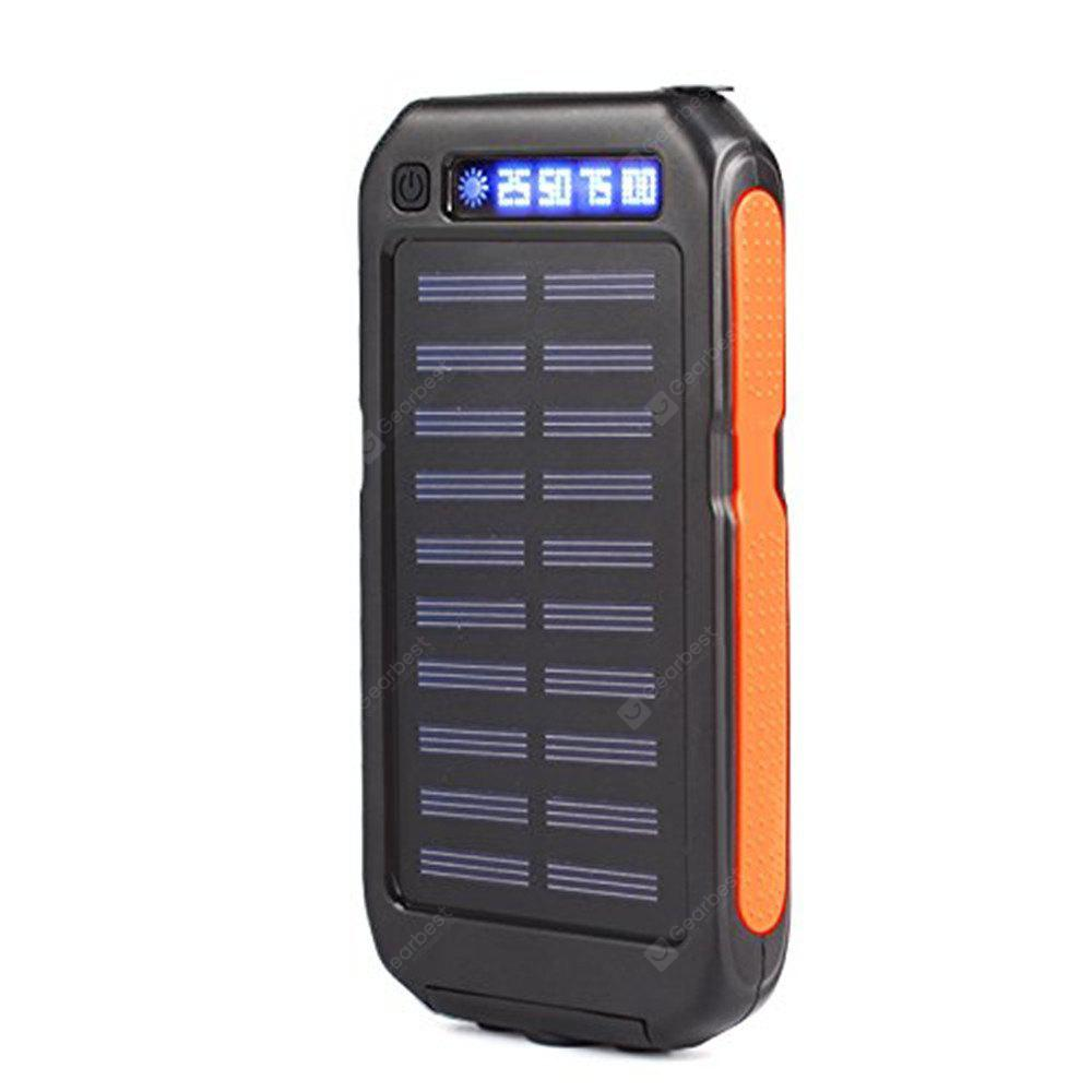 Solar Charger 10000mAh Solar Power Bank Portable Charger with 3 Flashlight and Dual USB External Battery Pack Power Pack