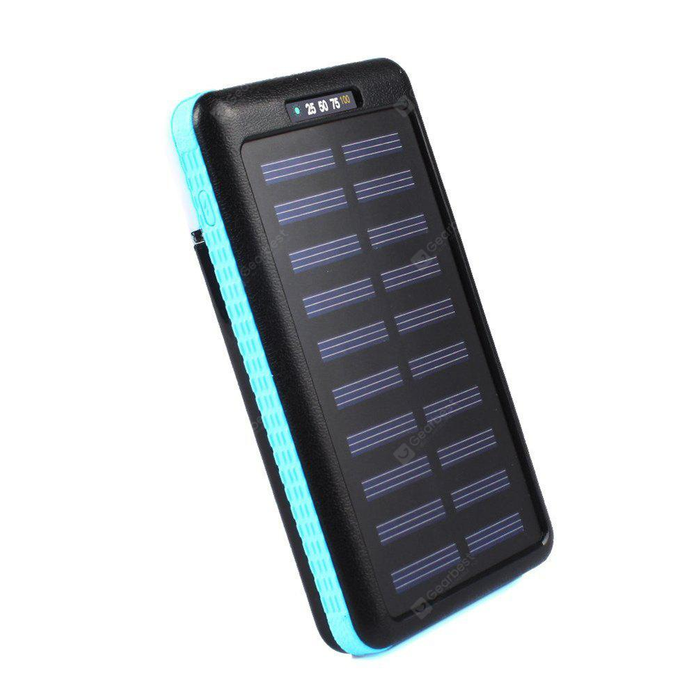 Solar Charger 10000mAh Portable Solar Power Bank Outdoors Emergency External Battery for Mobile Phone Tablets Light