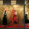 DSU Christmas Window Glass Festival Decals Murales Decorazioni natalizie - ROSSO