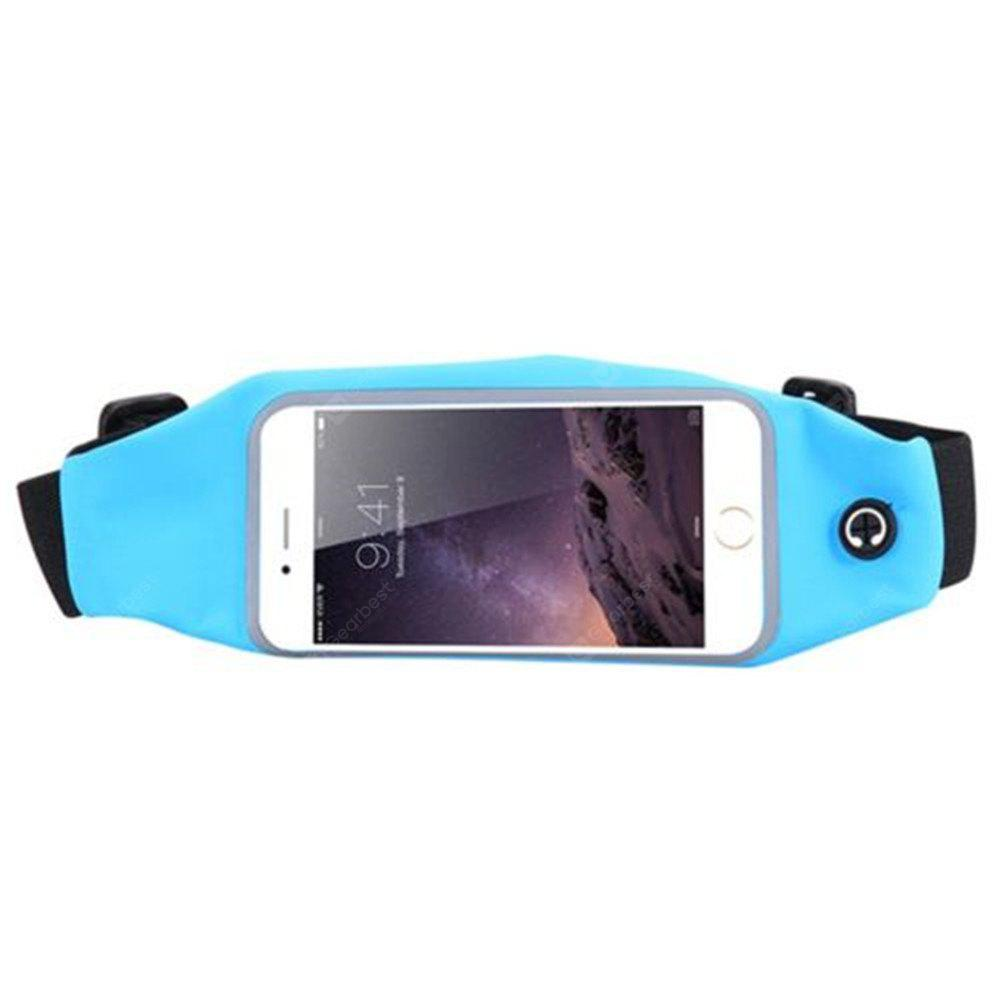 Sport Running Waist Pack Waterproof Belt Pouch Mobile Cell Phone Case Cover Bag Multi Smartphone Model 6 inch LIGHT BLUE