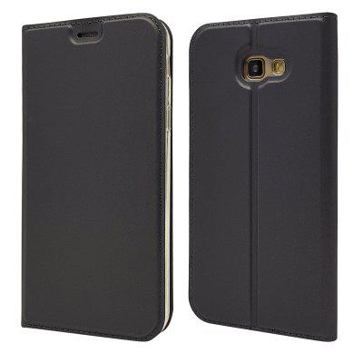 Pure Color Magnetic Pull in Ledertasche für Samsung Galaxy A7 2017