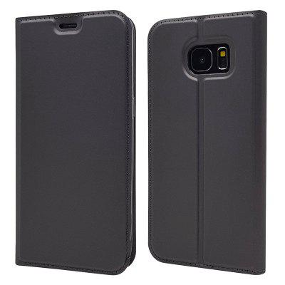 Pure Color Magnetic Pull in Ledertasche für Samsung Galaxy S7 edge