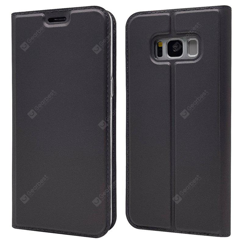 Pure Color Magnetic Pull in Ledertasche für Samsung Galaxy S8