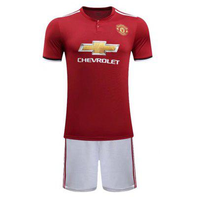Manchester United 17-18 New Season Grey Second Away Home Maglie da Calcio Tuta a Manica Corta