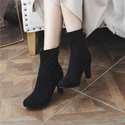Miss Shoes 1309 Round Head and High Heel Height Heel Stretch BootWomens Boots<br>Miss Shoes 1309 Round Head and High Heel Height Heel Stretch Boot<br><br>Boot Height: Ankle<br>Boot Type: Fashion Boots<br>Closure Type: Zip<br>Gender: For Women<br>Heel Type: Chunky Heel<br>Outsole Material: Rubber<br>Package Contents: 1 xShoes(Pair)<br>Pattern Type: Solid<br>Season: Winter<br>Toe Shape: Round Toe<br>Upper Material: Flock<br>Weight: 1.8304kg