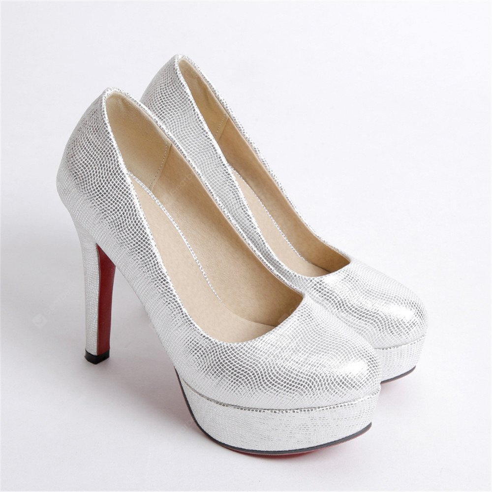 Miss Shoes A16 Round Head Thin and Elegant Single Shoes