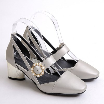 Miss Shoe 520 Square Head and High Heel Sandals