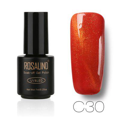 ROSALIND The Polish Glue Phototherapy Glue The Cat'S Eye Is 30 Color Optional 7ML