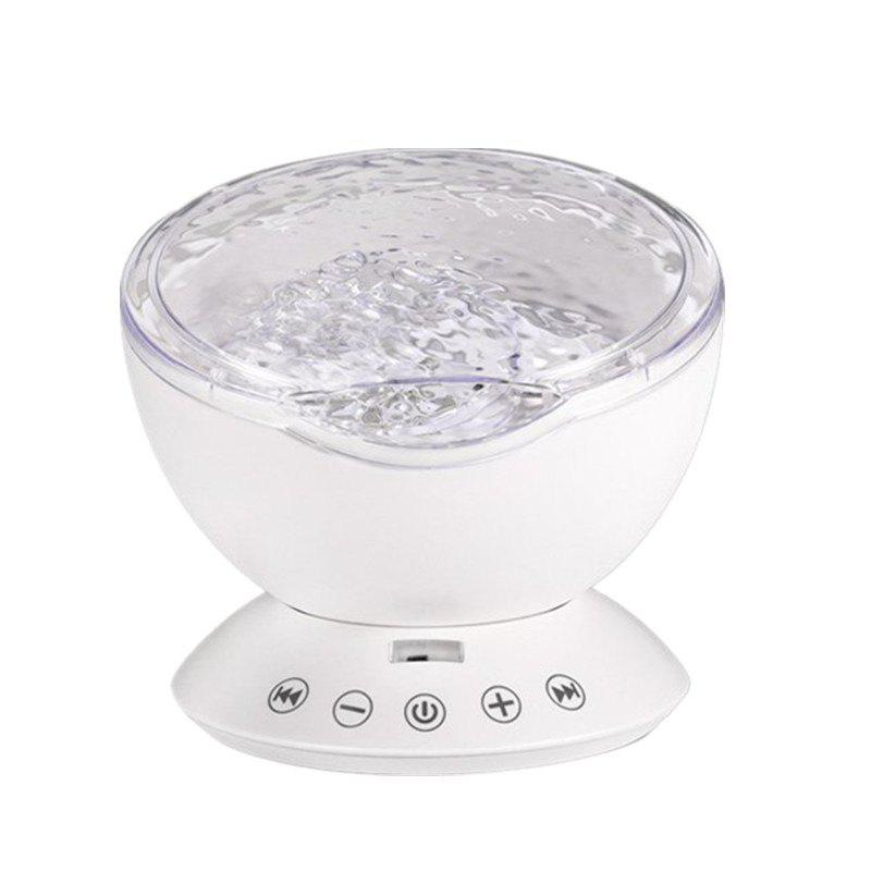 7Colors LED Starry Sky Remote Control Ocean Wave Projector with Mini Music led night lamp
