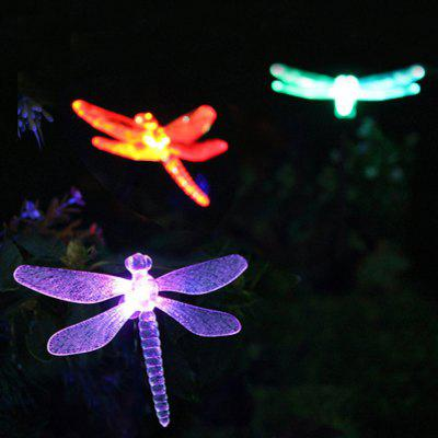 Solar Powered Color Changing Outdoor Garden Pathway Stake LED Dragonfly Light 1PC