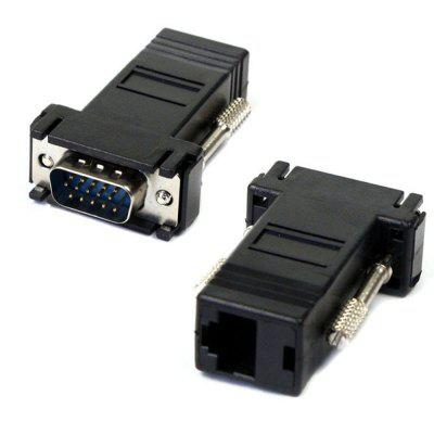 RJ45 to VGA Ethernet Female Adapter 15-pin