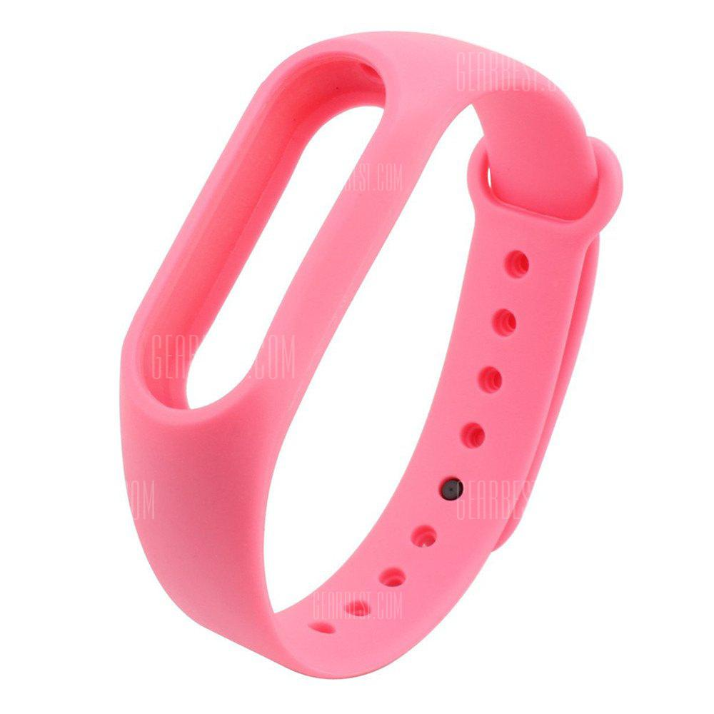 Buy Colorful Silicone Wrist Strap Bracelet 10 Color Replacement Watchband Original 2 Xiaomi Mi Band Wristband PINK
