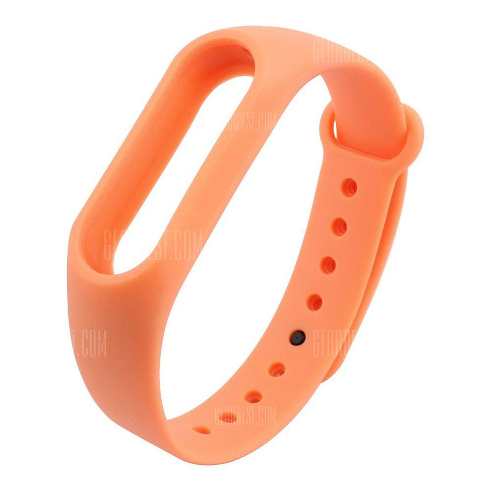 Buy Colorful Silicone Wrist Strap Bracelet 10 Color Replacement Watchband Original 2 Xiaomi Mi Band Wristband ORANGE