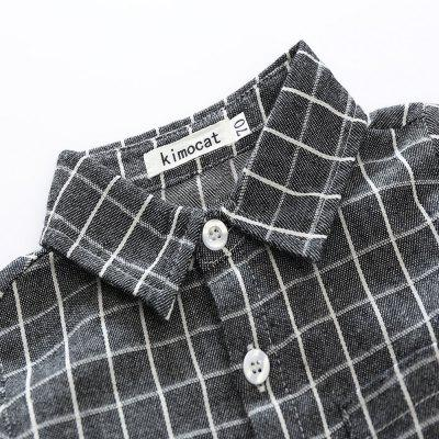Kimocat 2018 Autumn Boy Long-sleeve Checked Shirt with Pants suitBoys Clothing Sets<br>Kimocat 2018 Autumn Boy Long-sleeve Checked Shirt with Pants suit<br><br>Brand: kimocat<br>Closure Type: Single Breasted<br>Collar: Turn-down Collar<br>Fabric Type: Broadcloth<br>Gender: Boy<br>Material: Cotton<br>Package Contents: 1 x Suit<br>Package size (L x W x H): 27.00 x 30.00 x 3.00 cm / 10.63 x 11.81 x 1.18 inches<br>Package weight: 0.2100 kg<br>Pattern Style: Plaid<br>Product weight: 0.2000 kg<br>Season: Autumn<br>Style: British<br>Weight: 0.4860kg