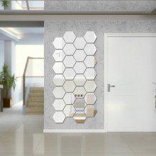 Diy Hexagon 3D Art Mirror Wall Stickers for Home Wall Decal