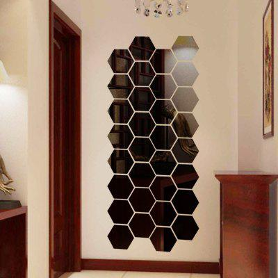 Hexagon 3D Art Diy Mirror Wall Stickers for Home Wall DecalWall Stickers<br>Hexagon 3D Art Diy Mirror Wall Stickers for Home Wall Decal<br><br>Function: 3D Effect, Decorative Wall Sticker<br>Material: PMMA<br>Package Contents: 1 Set of Wall Stickers<br>Package size (L x W x H): 4.00 x 4.00 x 2.00 cm / 1.57 x 1.57 x 0.79 inches<br>Package weight: 0.0770 kg<br>Product weight: 0.0720 kg<br>Quantity: 1 Set<br>Subjects: Fashion,Leisure,Shape<br>Suitable Space: Bedroom,Cafes,Dining Room,Hallway,Hotel,Kids Room,Living Room,Office,Study Room / Office<br>Type: Mirror Wall Sticker