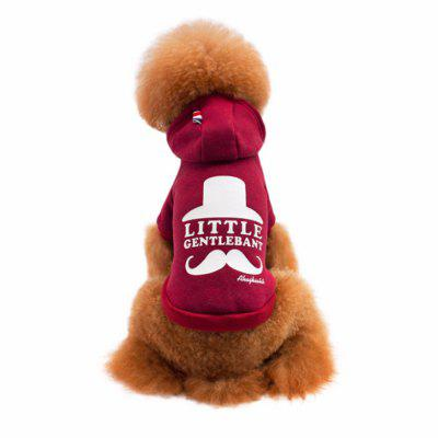 Lovoyager LVC17007 The New Moustache Avanti Style Environmental Protection Printing Dog Jacket