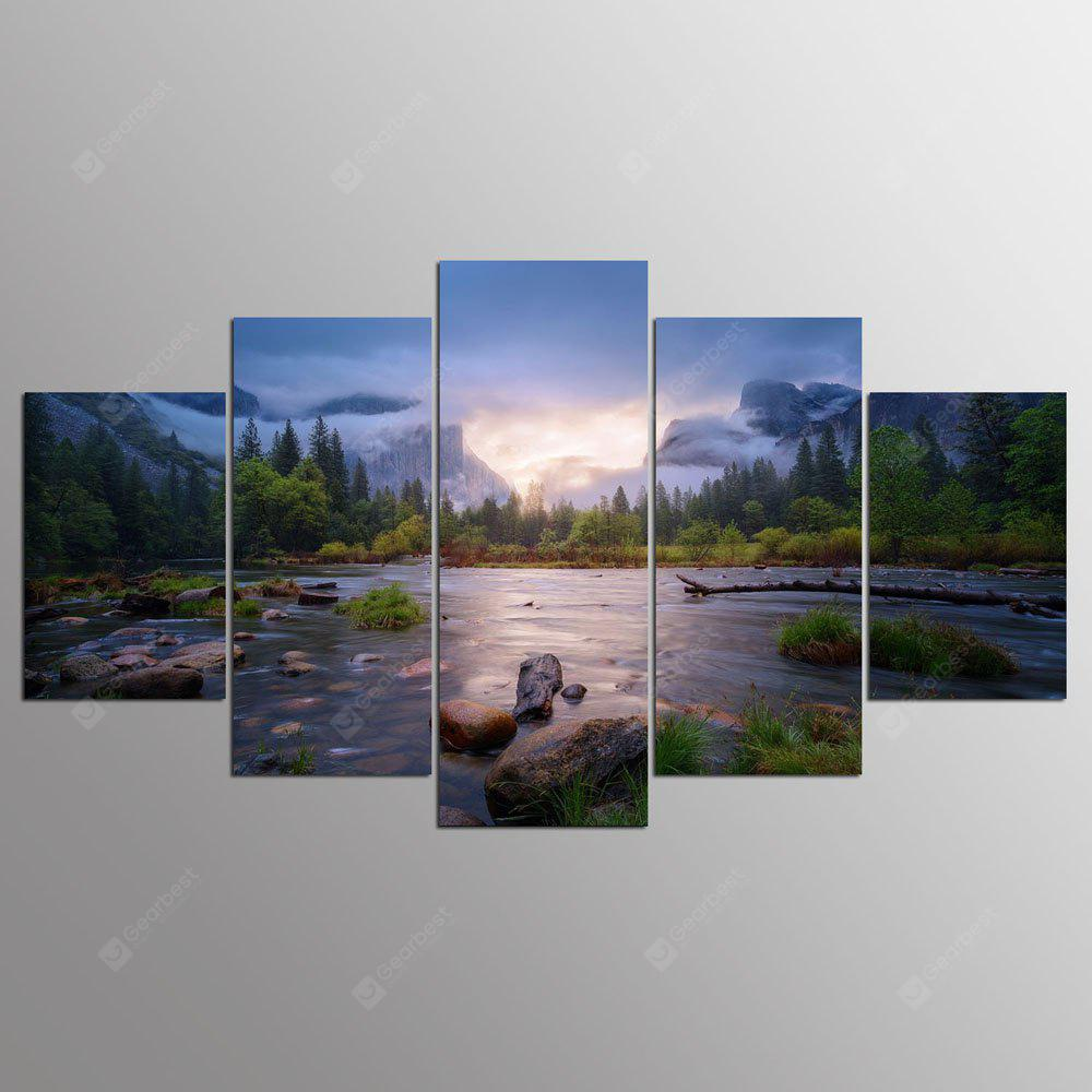 YSDAFEN 5 Pcs Canvas Painting Home Decor Wall Pictures For Living Room