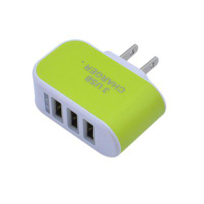 3USB Candy Charger LED Light Mobile Charging Head Smart Multi-Port USB Charger Travel To The American Standard