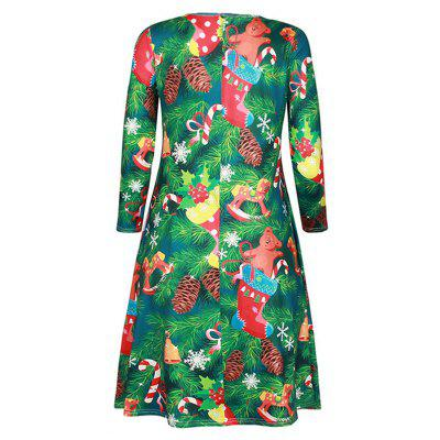 Womens Fashion Round Neck Christmas Print Long-Sleeved DressLong Sleeve Dresses<br>Womens Fashion Round Neck Christmas Print Long-Sleeved Dress<br><br>Dresses Length: Knee-Length<br>Elasticity: Micro-elastic<br>Fabric Type: Woolen<br>Material: Polyester<br>Neckline: Round Collar<br>Package Contents: 1 x Dress<br>Pattern Type: Print<br>Season: Fall<br>Silhouette: Straight<br>Sleeve Length: Long Sleeves<br>Style: Fashion<br>Weight: 0.2500kg<br>With Belt: No