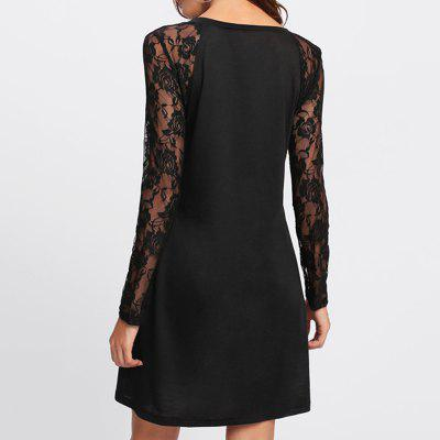 Womens Sexy V-Neck Lace Stitching Long-Sleeved DressLong Sleeve Dresses<br>Womens Sexy V-Neck Lace Stitching Long-Sleeved Dress<br><br>Dresses Length: Knee-Length<br>Elasticity: Micro-elastic<br>Fabric Type: Woolen<br>Material: Polyester, Lace<br>Neckline: V-Neck<br>Package Contents: 1 x Dress<br>Pattern Type: Solid<br>Season: Fall<br>Silhouette: Straight<br>Sleeve Length: Long Sleeves<br>Style: Fashion<br>Weight: 0.2500kg<br>With Belt: No