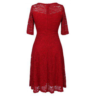 New Summer Fashion Casual O-neck Three Quarter Sleeve Lace Hollow Out Slim Solid Women DressWomens Dresses<br>New Summer Fashion Casual O-neck Three Quarter Sleeve Lace Hollow Out Slim Solid Women Dress<br><br>Dresses Length: Mid-Calf<br>Elasticity: Elastic<br>Fabric Type: Batik<br>Material: Polyester, Lace<br>Neckline: Round Collar<br>Package Contents: 1 x Dress<br>Pattern Type: Solid<br>Season: Summer, Spring<br>Silhouette: Pleated<br>Sleeve Length: Half Sleeves<br>Style: Elegant<br>Weight: 0.4000kg<br>With Belt: No