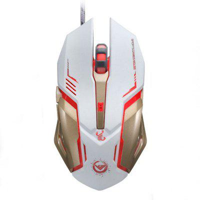 Adjustable Game Mouse  3200 Dots Per Inch 6 Button USB Mouse Player's Game Programming Macro optical Variable 3 Breath Lights