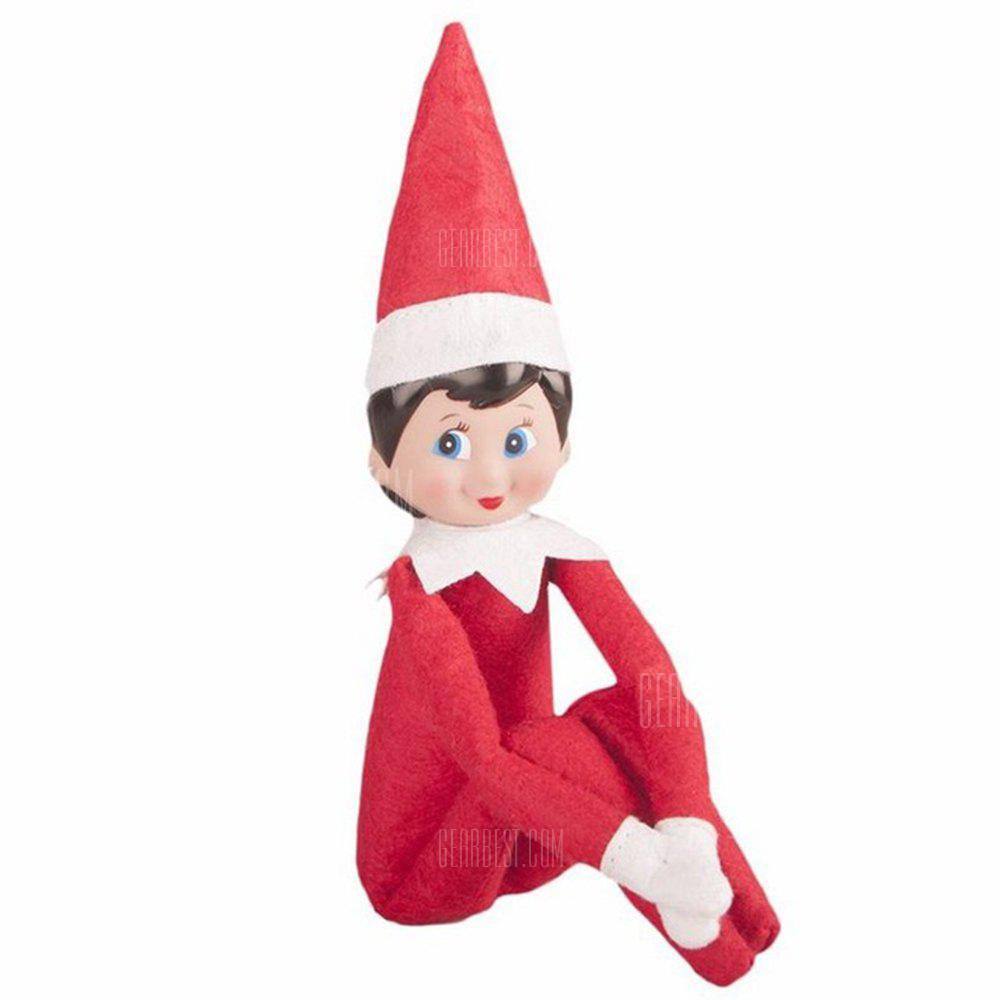 Elf Doll Plush Toy Multi Colors Christmas Gift for Kids - RUBY RED