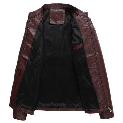 Autumn Winter Coat Men Leather Jacket Zipper Black Motorcycle Coat Outerwear ParkaMens Jackets &amp; Coats<br>Autumn Winter Coat Men Leather Jacket Zipper Black Motorcycle Coat Outerwear Parka<br><br>Clothes Type: Leather &amp; Suede<br>Collar: Mandarin Collar<br>Material: Faux Leather<br>Package Contents: 1?Coat<br>Season: Spring, Fall, Winter<br>Shirt Length: Regular<br>Sleeve Length: Long Sleeves<br>Style: Casual<br>Weight: 0.7000kg