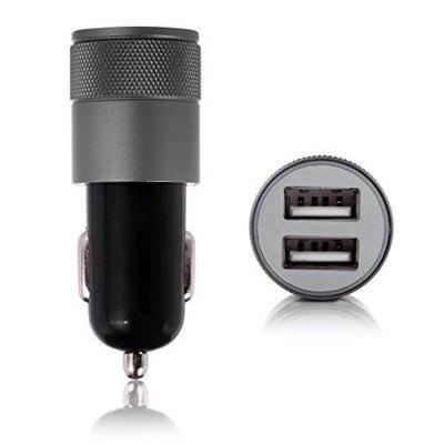 App Car Charger Metal App Double USB Car Charger Aluminum Double Mouth Cables Charger for Car