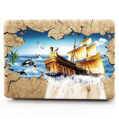 Computer Shell Laptop Case Keyboard Film for MacBook New Pro 13.3 inch Touch 2016 3D Sailing Boat