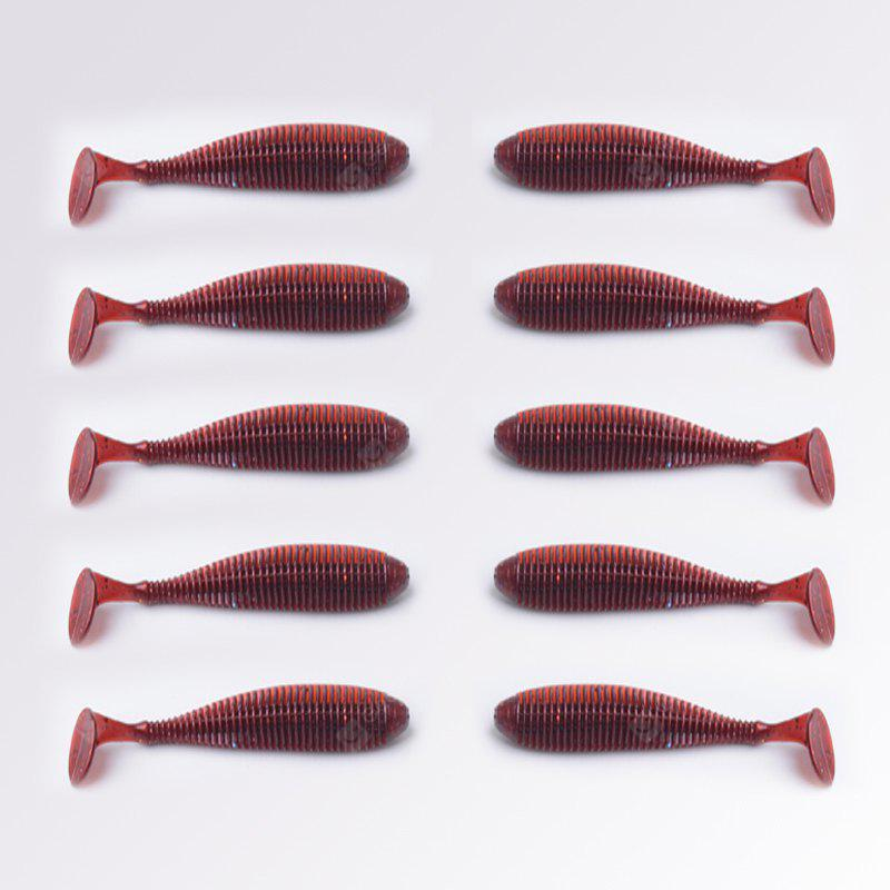 Faux appât artificiel 10 PCS / LOT 8.8 CM 2.8GT Queue Leurre souple pour Bass Fishing Bait Leurres de pêche Worm Fly Wobblers