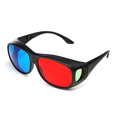 Red Blue 3D Glasses / Cyan Anaglyph Simple 3D Movie Game Extra Upgrade Style