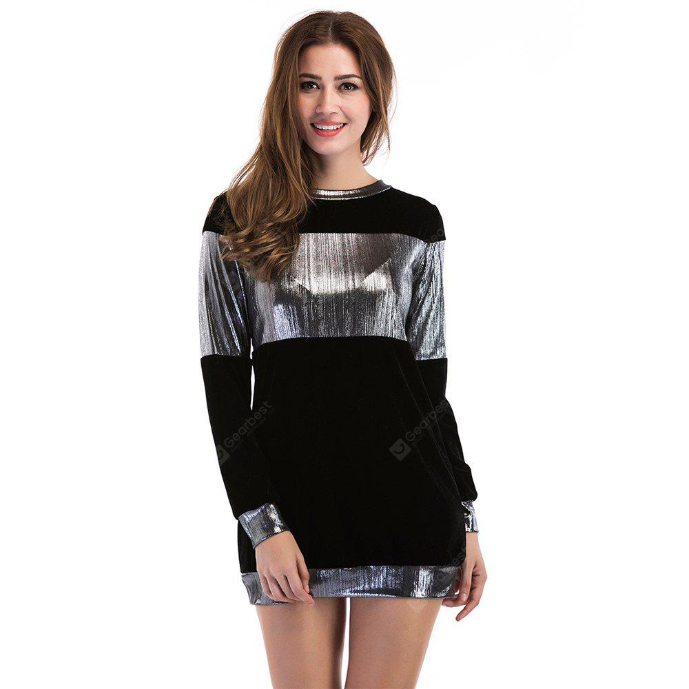 BLACK XL Long Sleeved T-Shirt Coat in Coloring Color
