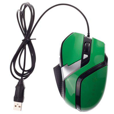 Creative 5 Keys Wired Game Mouse Green