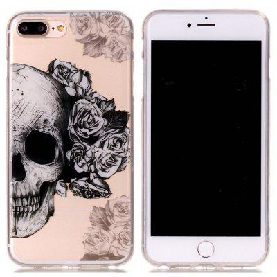 Custodia in silicone TPU ultra sottile sottile Skull per iPhone 7 Plus / 8 Plus