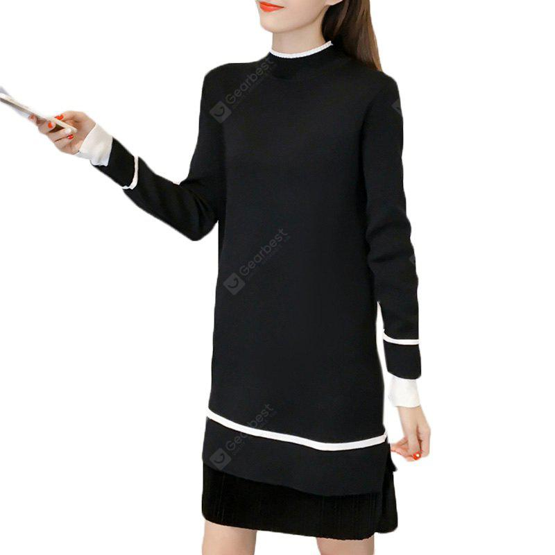HEISE A Turtleneck Sweater with A Turtleneck