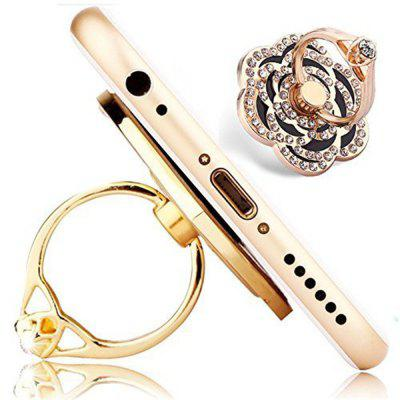 Phone Ring Luxury Rose Shape Universal Phone Stand Multi-Angle Portable Stand 360 Rotation 3D Aluminium Alloy Ring Grip