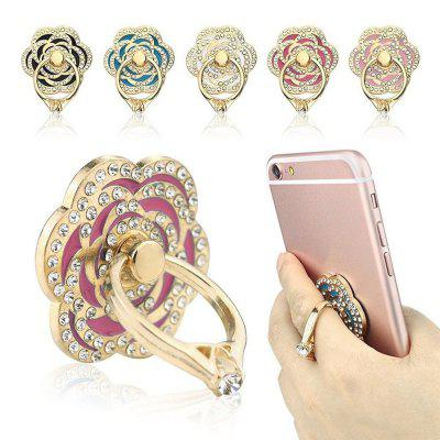 Buy SANGRIA Phone Ring Luxury Rose Shape Universal Phone Stand Multi-Angle Portable Stand 360 Rotation 3D Aluminium Alloy Ring Grip for $2.96 in GearBest store