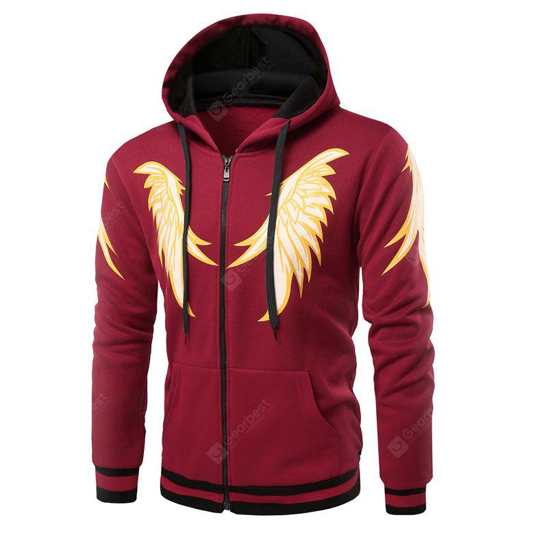 Fashion Hit Color Hooded Men'S Male Casual Hoodie