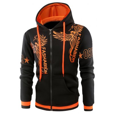 Fashion Small Phoenix Stamp Hoodie