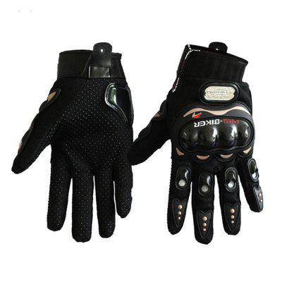 Fashion Motorcycle Glove Outdoor Sports Full Finger Knight Riding Motorbike Breathable Mesh Fabric